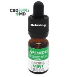 CBD Oil 500mg Full Spectrum Peppermint Indica Relaxing