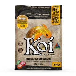 Koi CBD Gummies Tropical Flavors 10mg each/20 pack Great For Anxiety & Pain NO THC