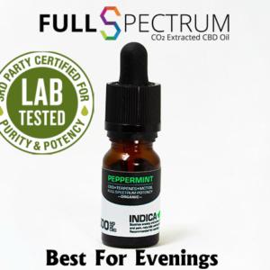 CBD Oil 500mg Medical Grade Full Spectrum Peppermint Indica Relaxing & Sedating