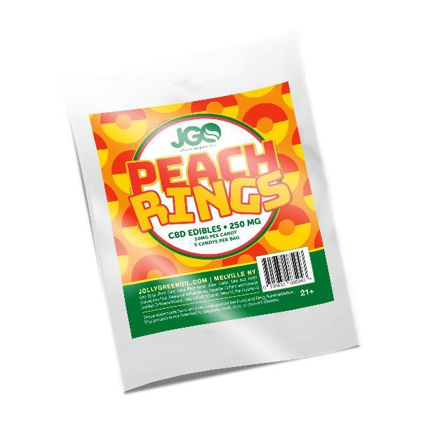 JGO Gummies - Peach Rings 250mg