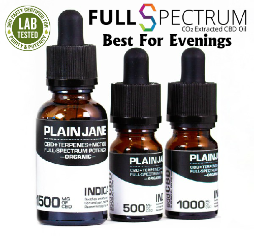 CBD Plain Jane – Full Spectrum Indica Available in 500mg 1000mg 1500mg