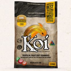 Koi CBD Gummies Tropical Flavors 10mg each/6 pack