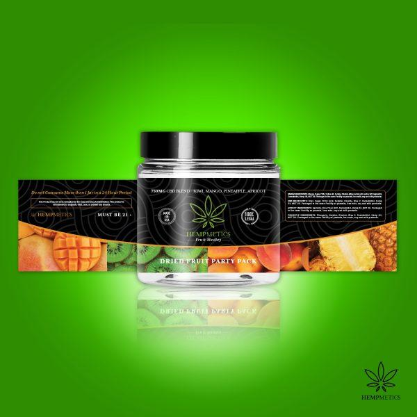 Hempmetics Dried Fruit Party Pack 750mg