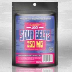 JGO Gummies - Blazeberry Sour Belts 250mg