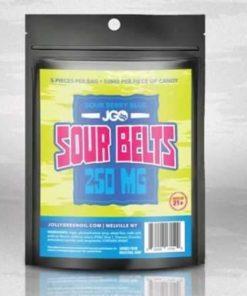 JGO Gummies - Sour Berry Blue Belts 250mg