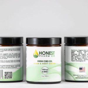 Honest Pharm Co  CBD Hand & Body Cream 300mg/6oz