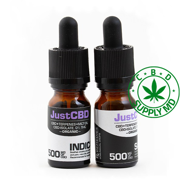 500 mg (2mg CBD per Drop) Sublingual Drops Tincture – Isolate NO THC