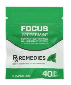 CBD Chewing Gum – Focus Peppermint Full Spectrum