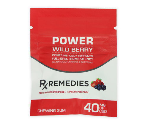 CBD Chewing Gum – Power Wild Berry Full Spectrum