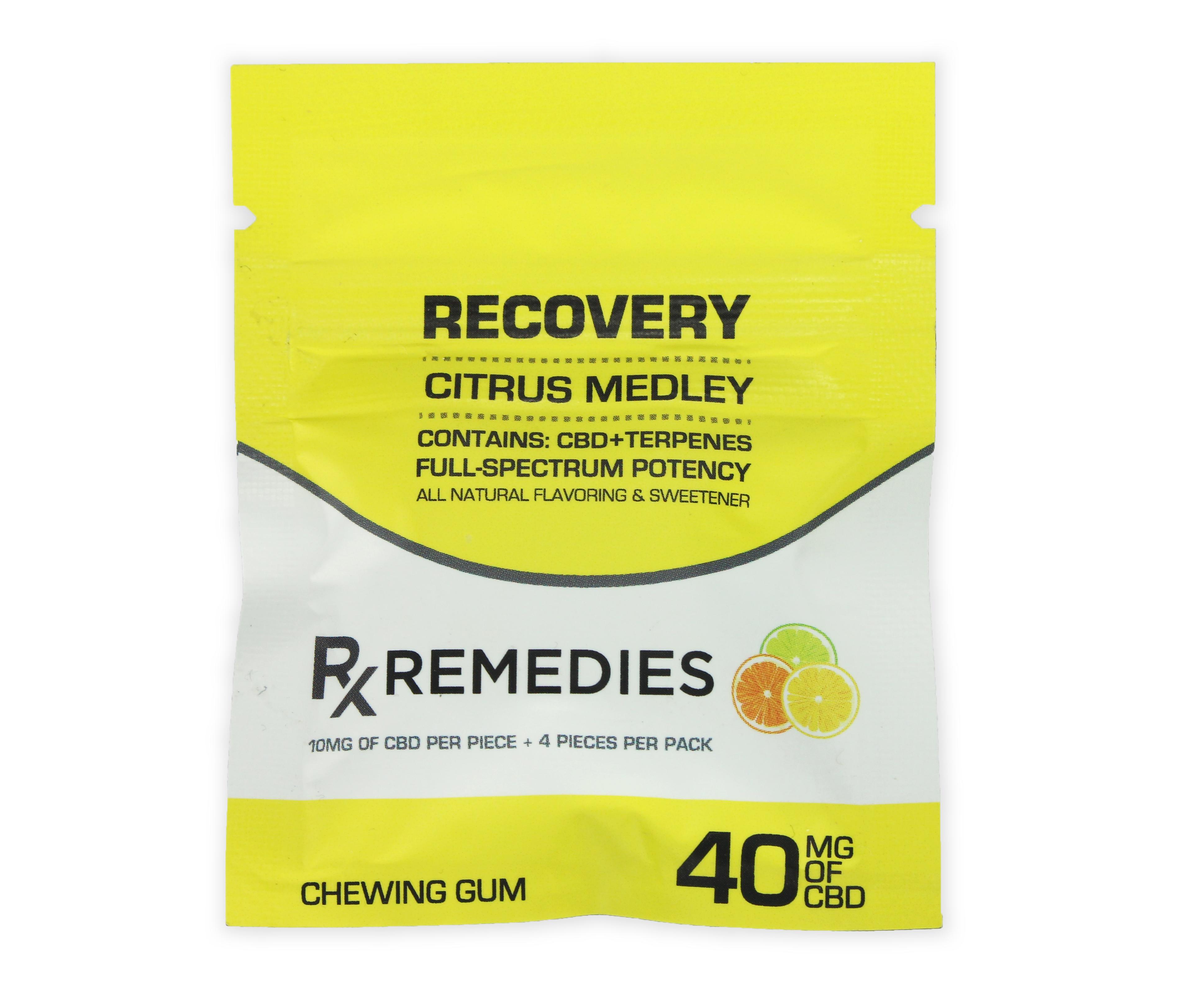 CBD Chewing Gum – Recovery Citrus Medley Full Spectrum