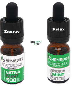 CBD Oil 2 Bottle Day Night Deal Mint Flavor Top Seller