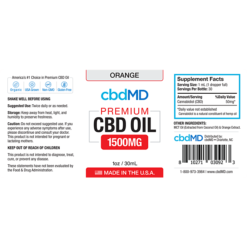 CBD Oil NO THC 1500mg -Orange