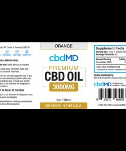 CBD Oil NO THC 3000mg Orange