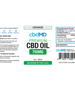 CBD Oil NO THC 750mg -Orange