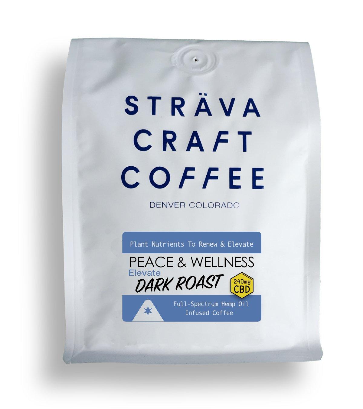 ELEVATE DARK ROAST - CBD INFUSED COFFEE (240MG CBD PER 12OZ BAG)