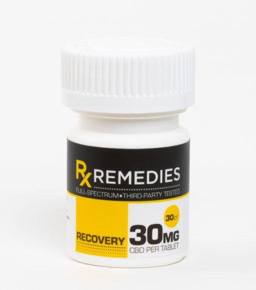 CBD Tablets Full Spectrum Recovery 30mg Each