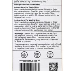 CBD Suppositories 10 Pack 50mg Each