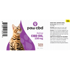 CBD Oil Cats 150mg Catnip Flavor