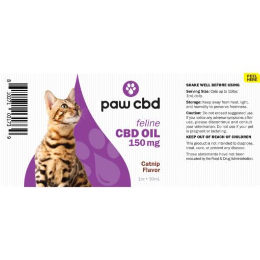 CBD Oil Cats 150mg Catnip Flavor