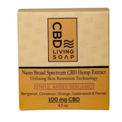 CBD Living Soap 100mg Amber Bergamot
