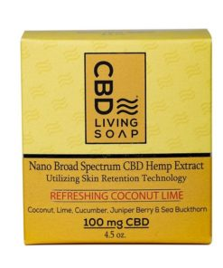 CBD Living Soap 100mg Coconut Lime