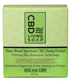 CBD Living Soap 100mg Eucalyptus