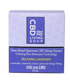 CBD Living Soap 100mg Lavender