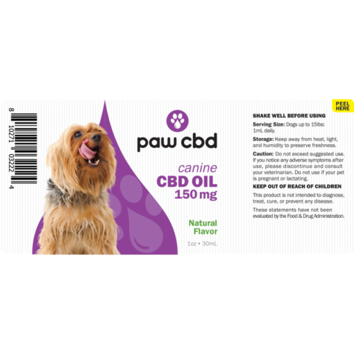 CBD Oil Dogs 150mg - Natural