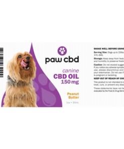 CBD Oil Dogs 150mg - Peanut Butter
