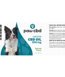 CBD Oil Dogs 300mg - Natural