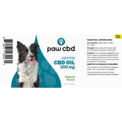 CBD Oil Dogs 300mg - Natural