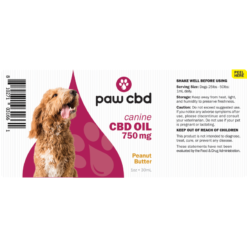 CBD Oil Dogs 750mg - Peanut Butter