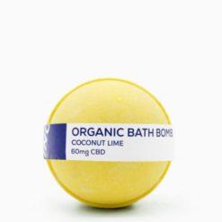 CBD Living Bath Bomb 60mg Coconut Lime