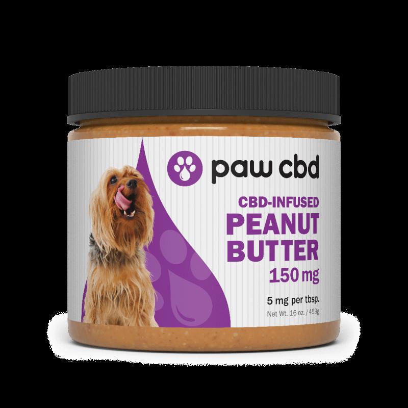 CBD Peanut Butter Jar 16oz With Spoon 150mg