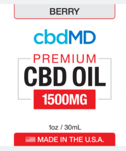 CBD Oil NO THC 1500mg -Berry