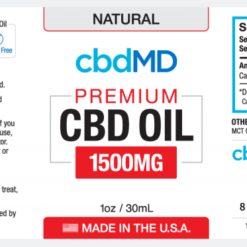 CBD Oil NO THC 1500mg