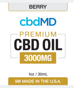 CBD Oil NO THC 3000mg Berry Flavor