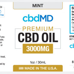 CBD Oil No THC 3000mg Mint