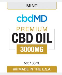 CBD Oil No THC 3000mg Mint