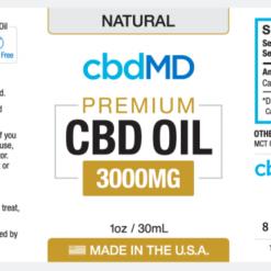 CBD Oil NO THC 3000mg Natural