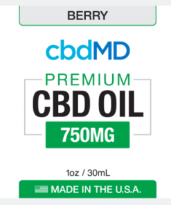 CBD Oil NO THC 750mg -Berry