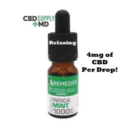 CBD Oil 1000mg Mint Flavor Extra Strength Full Spectrum Indica