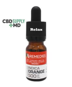 500mg Orange Flavor Sublingual Drops Full Spectrum Relaxing