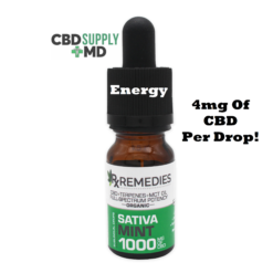 CBD Oil 1000mg Mint Flavor Extra Strength Full Spectrum Sativa