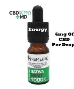 CBD Oil 1000mg Mint Flavor Extra Strength Full Spectrum Sativa