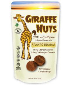 Giraffe Nuts + Caffeine   Atlantic Sea Salt   15mg Hemp CBD per piece + 25mg Caffeine