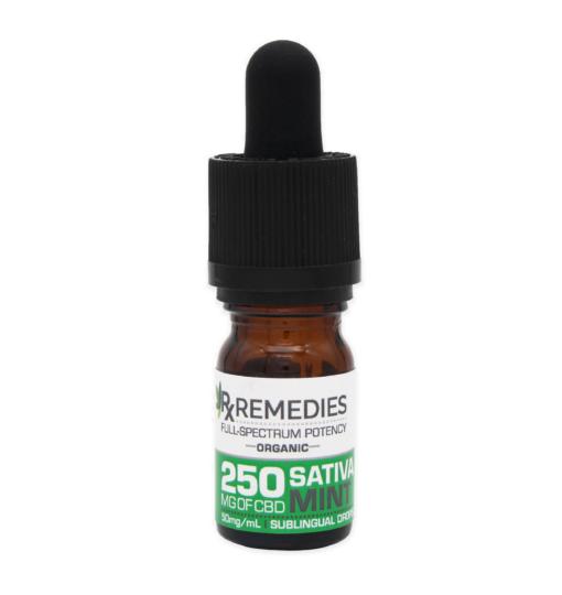 250mg Full Spectrum Sublingual Drops Sativa Energizing Mint Flavor