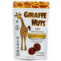 Giraffe Nuts Infused Caramels | Top Shelf Scotch | 15mg Hemp CBD per piece - 10 Pieces Per package