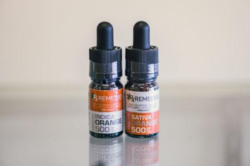 500mg Orange Sativa & Indica 2 Bottle Bundle