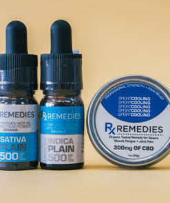500mg Plain Flavor CBD Oil Set 1 Energizing 1 Relaxing  & 1 Pro Strength Topical Cooling Balm